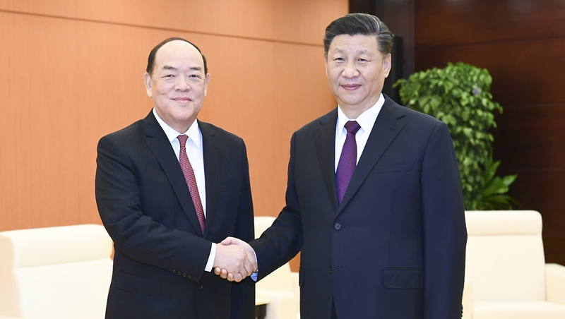 Central govn't fully supports Macao chief executive's work: Xi