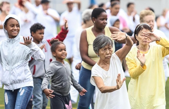 Tai Chi Chuan practice held for Chinese Lunar New Year celebration in Sao Paulo