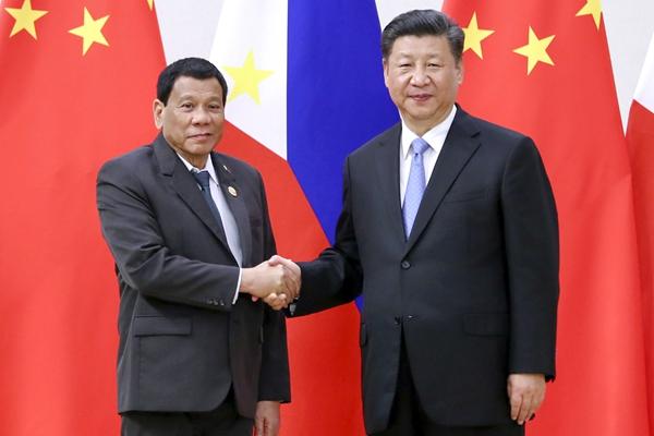 習近平會見菲律賓總統杜特爾特