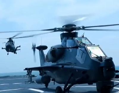陸航部隊與艦艇部隊展開聯合訓練