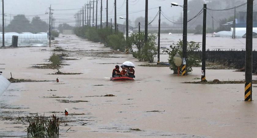 韓國持續暴雨致死亡人數升至12人