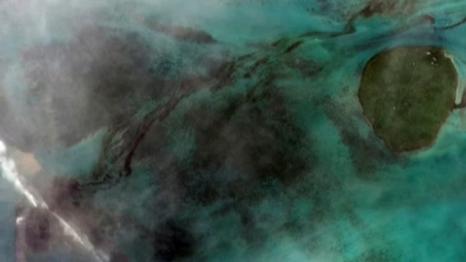 日本籍貨輪千噸燃油泄漏 毛裏求斯藍灣變黑灣