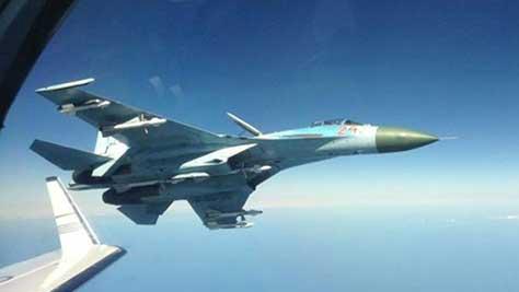 俄戰機24小時內兩次攔截美軍偵察機