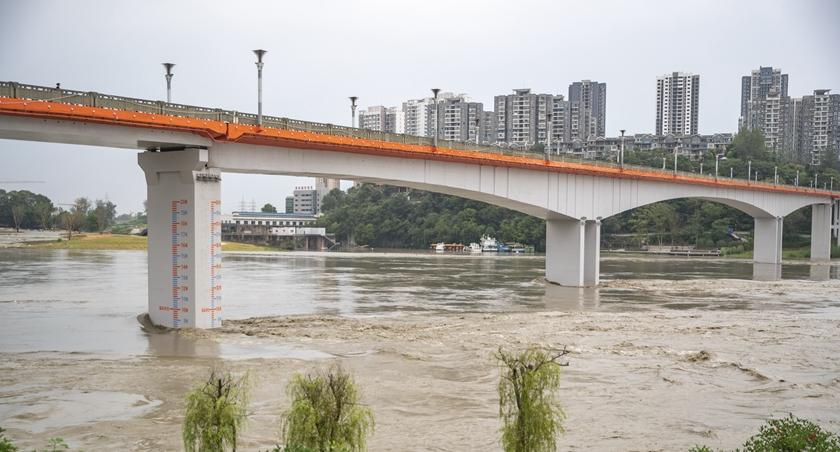 長江上遊形成2020年第4號洪水